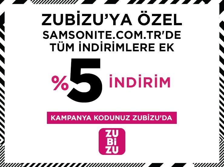 Samsonite'ta ZUBIZU'ya özel %5 İndirim